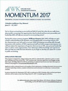 Momentum 2017 flyer