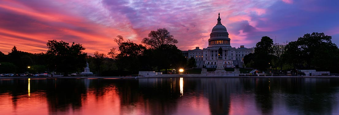Capitol building at dawn